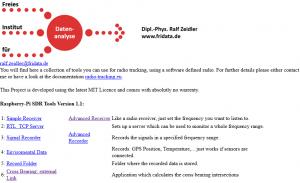 New Raspberry Pi Image Version 1 1 - Radio-Tracking eu